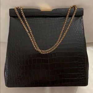 Vintage Snakeskin Design Handbag